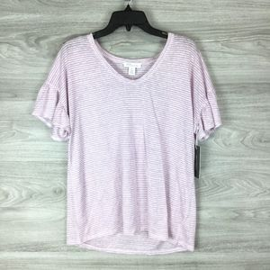 Nordstrom Linen Casual Tee Size Medium